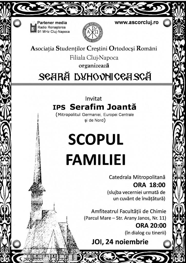 afis Scopul Familiei