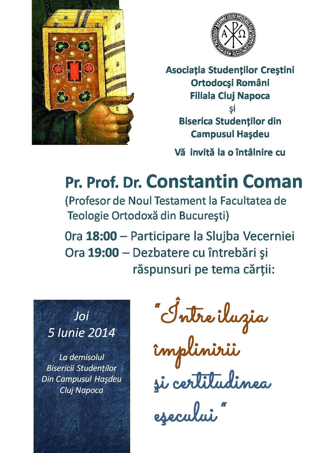 Pr Constantin Coman iunie 2014 3
