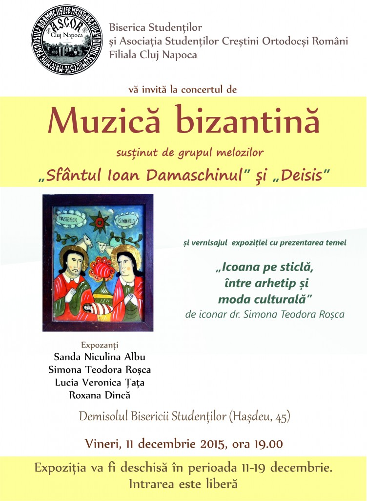 icoana pe sticla si concert bizantin Teodora Rosca