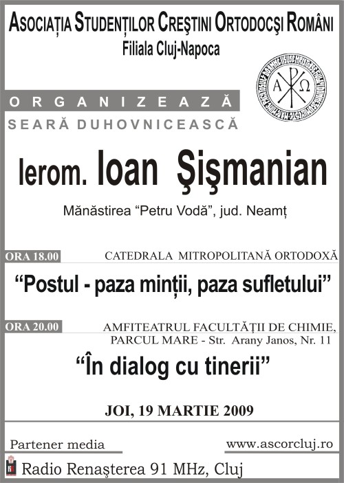 Seară Duhovnicească ASCOR Cluj